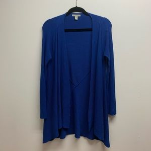 Blue Dana Buchman Long Cardigan